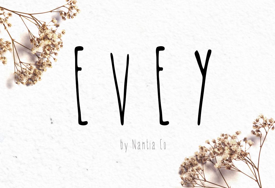 EVEY Handcrafted Multilingual Font | Latin / Greek / Cyrillic example image 1