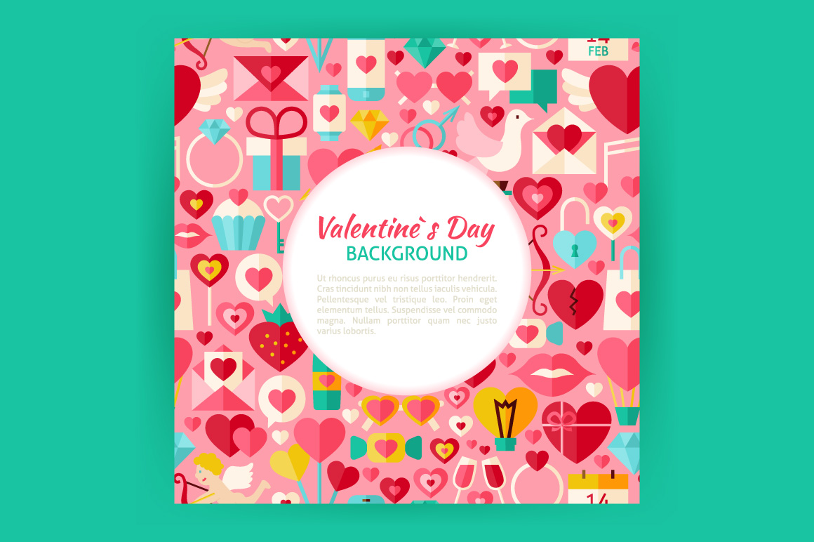 Valentine Day Vector Posters example image 2