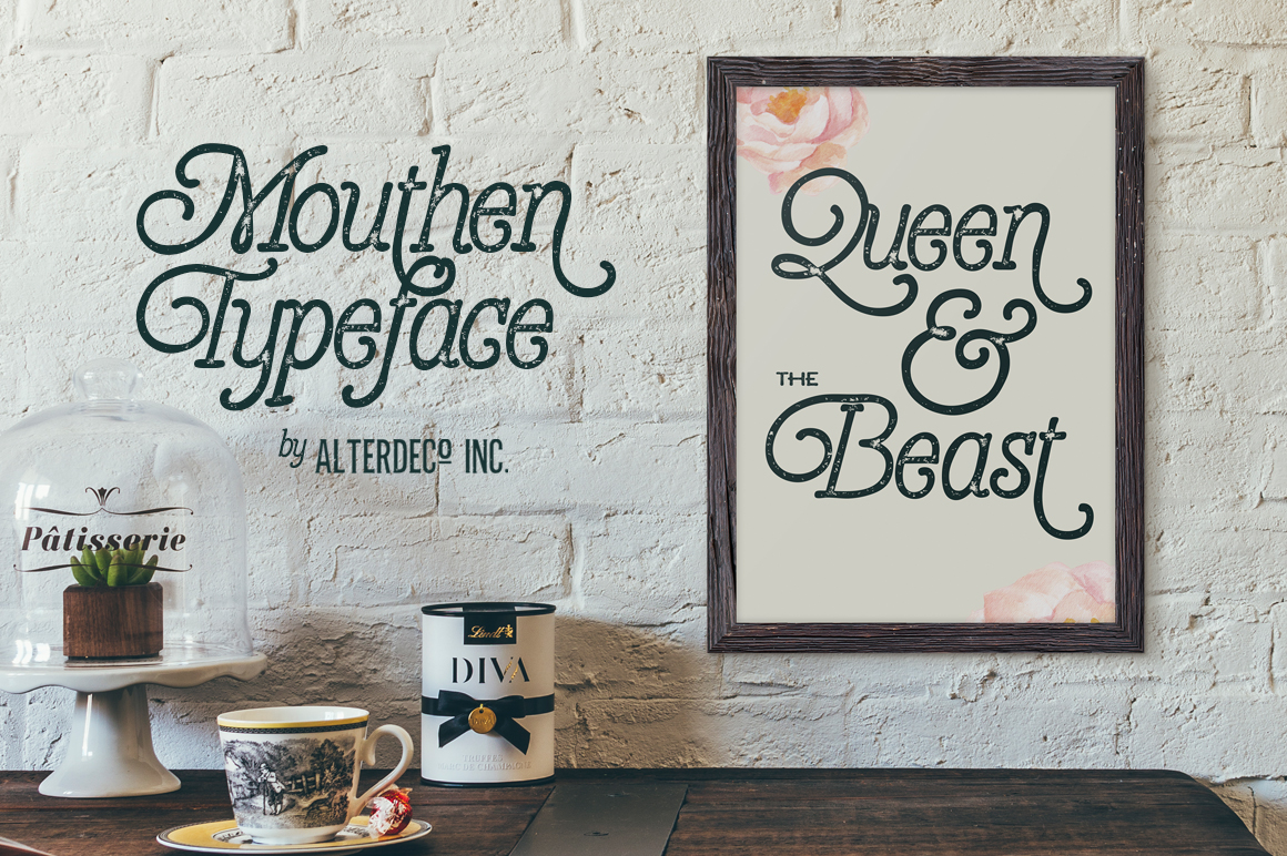 Mouthen typeface example image 3