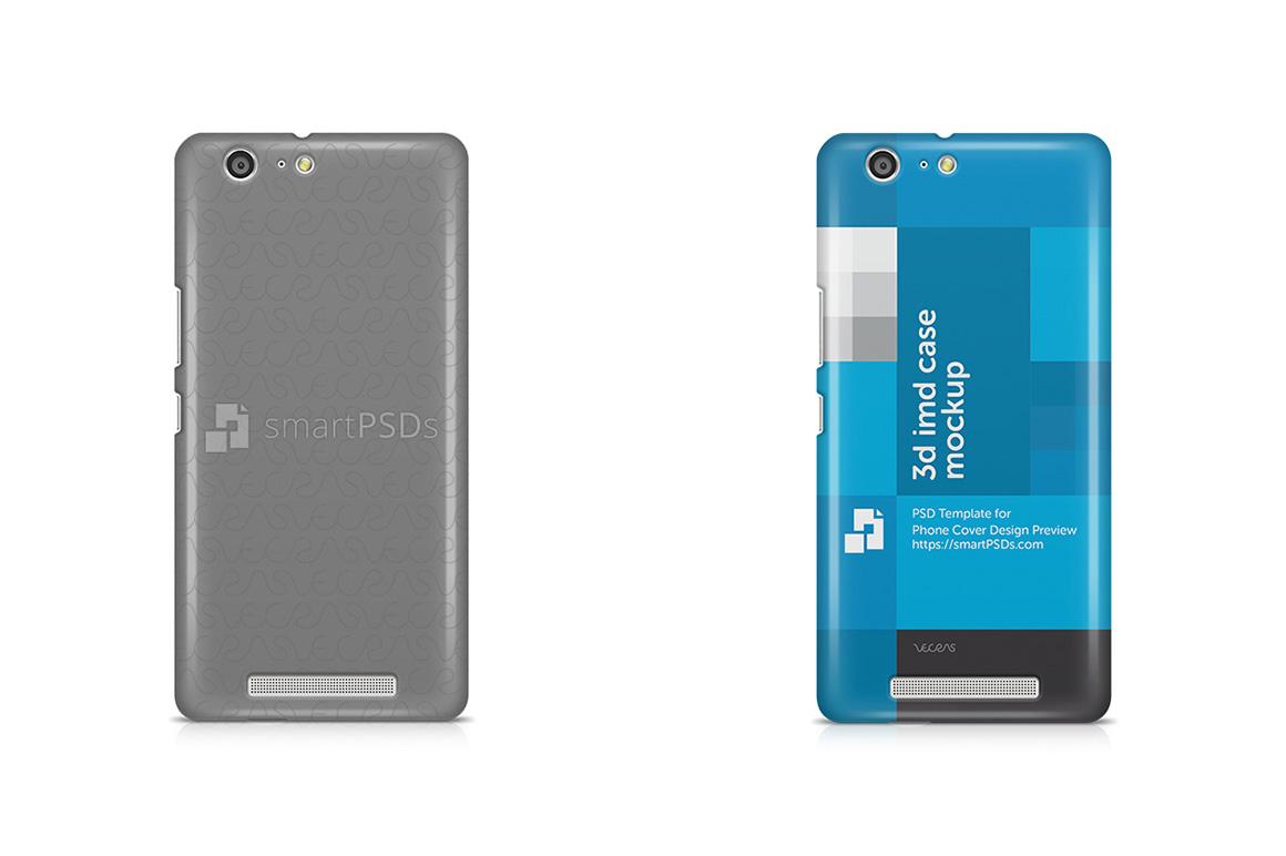 Gionee Marathon M5 3d IMD Mobile Case Design Mockup 2015 example image 1