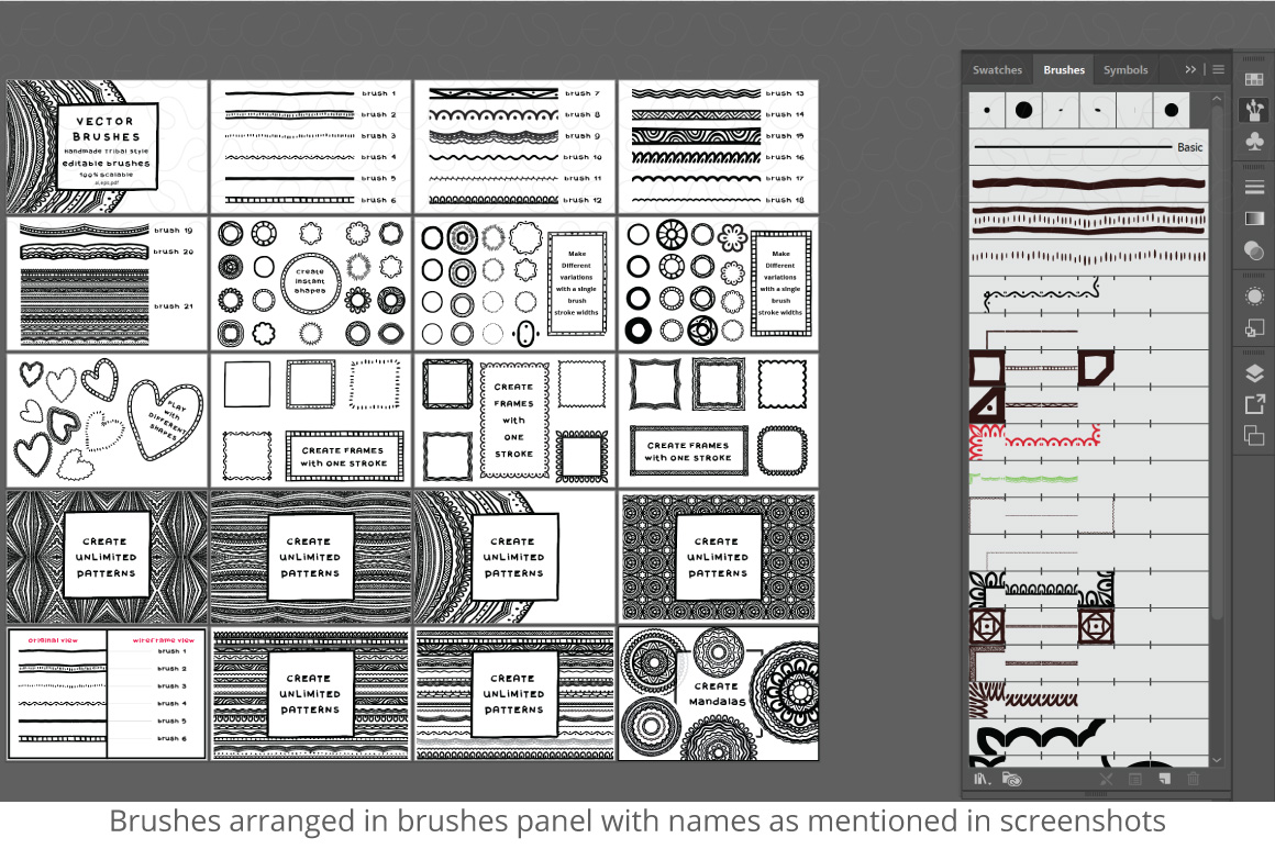 Vector Brushes - Handmade Tribal Style Graphics example image 21