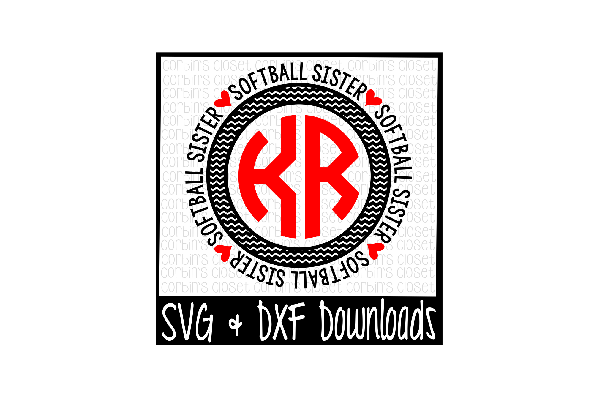 Softball Sister Svg Softball Sister Circle Monogram Cut File 15281 Svgs Design Bundles