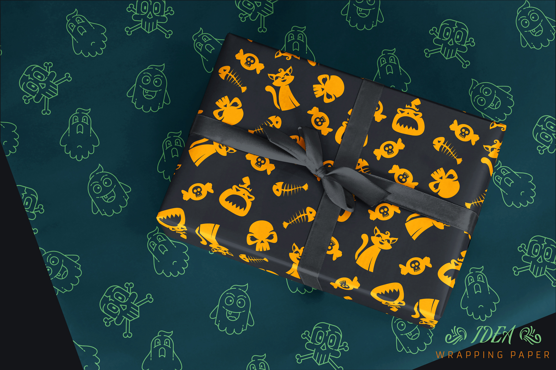 100 Seamless Patterns Vol.3 Halloween example image 19