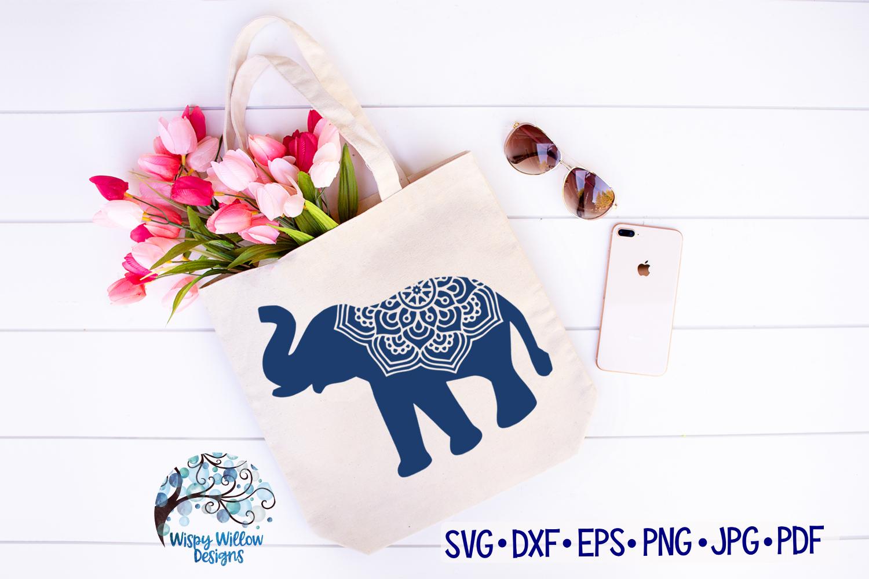 Elephant Mandala, Animal Mandala SVG Cut File example image 2