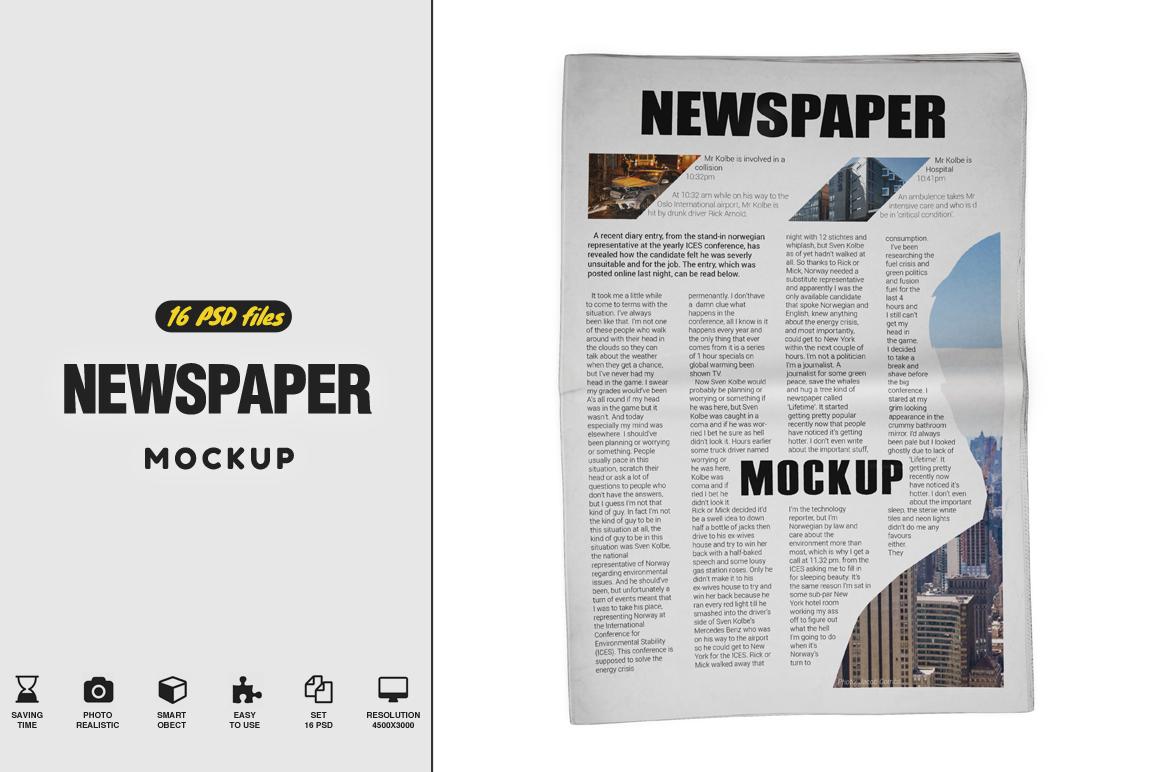 Newspaper Mockup example image 1