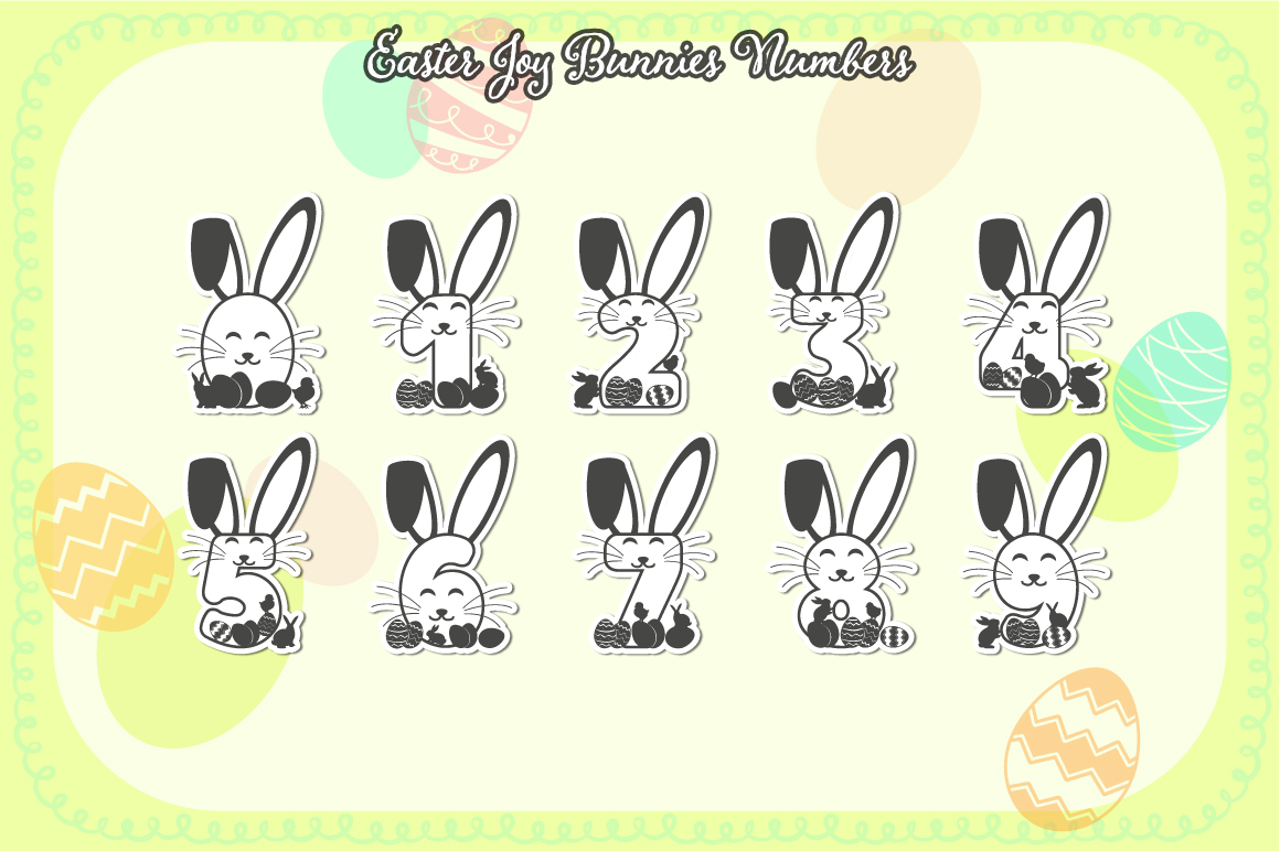 Easter Joy Bunnies - A Lovely Craft Font example image 4