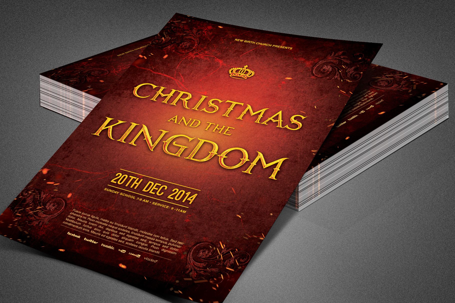 Christmas and the Kingdom Flyer example image 1