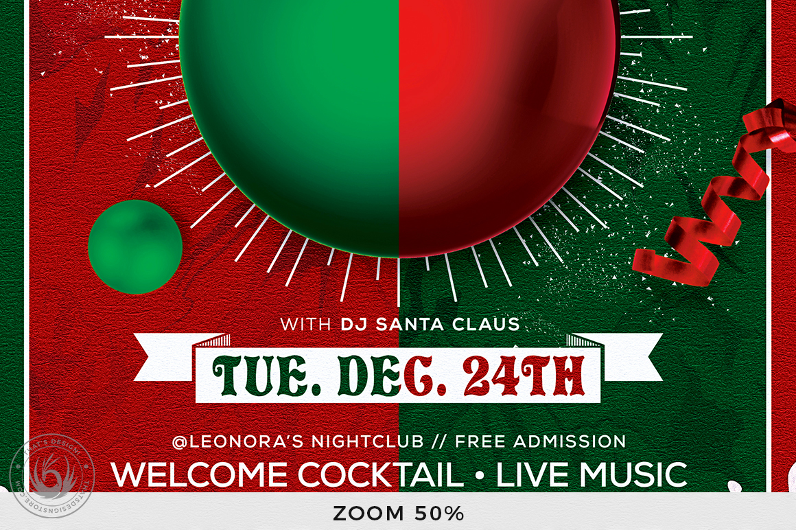 Christmas Eve Flyer Template V9 example image 8