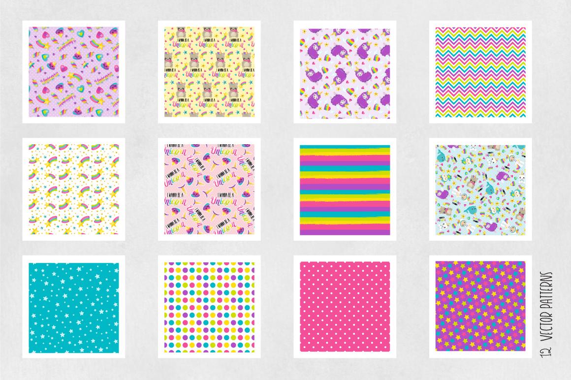 WANNABE-UNICORN , digital papers example image 5
