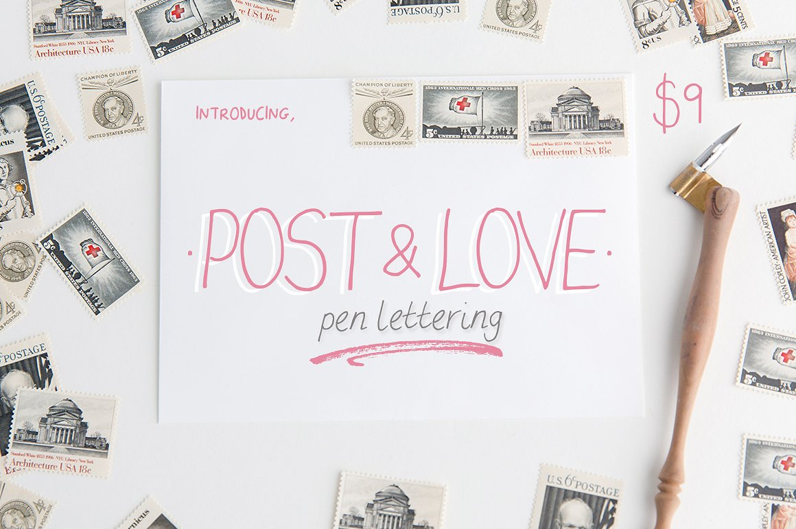 Post & Love Font example image 1