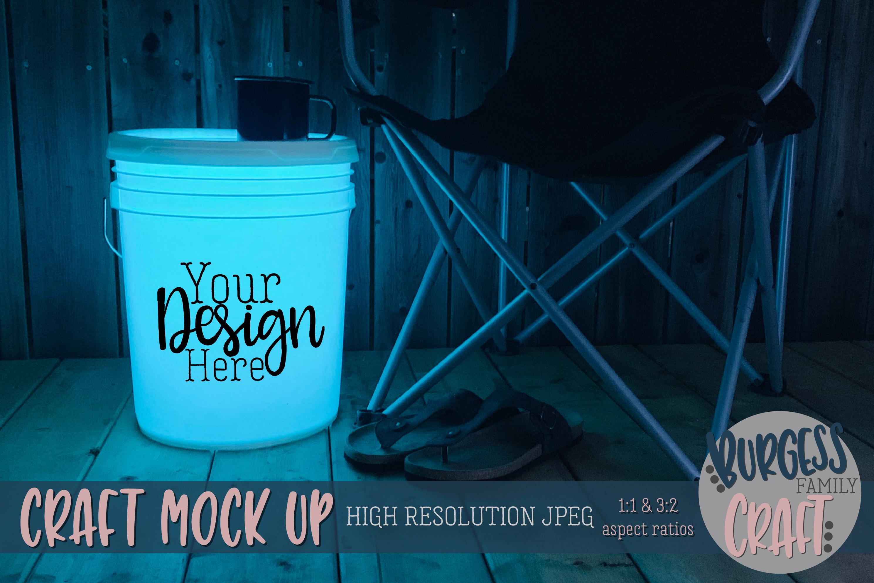 Bucket light table teal Craft mock up| High Resolution JPEG example image 1