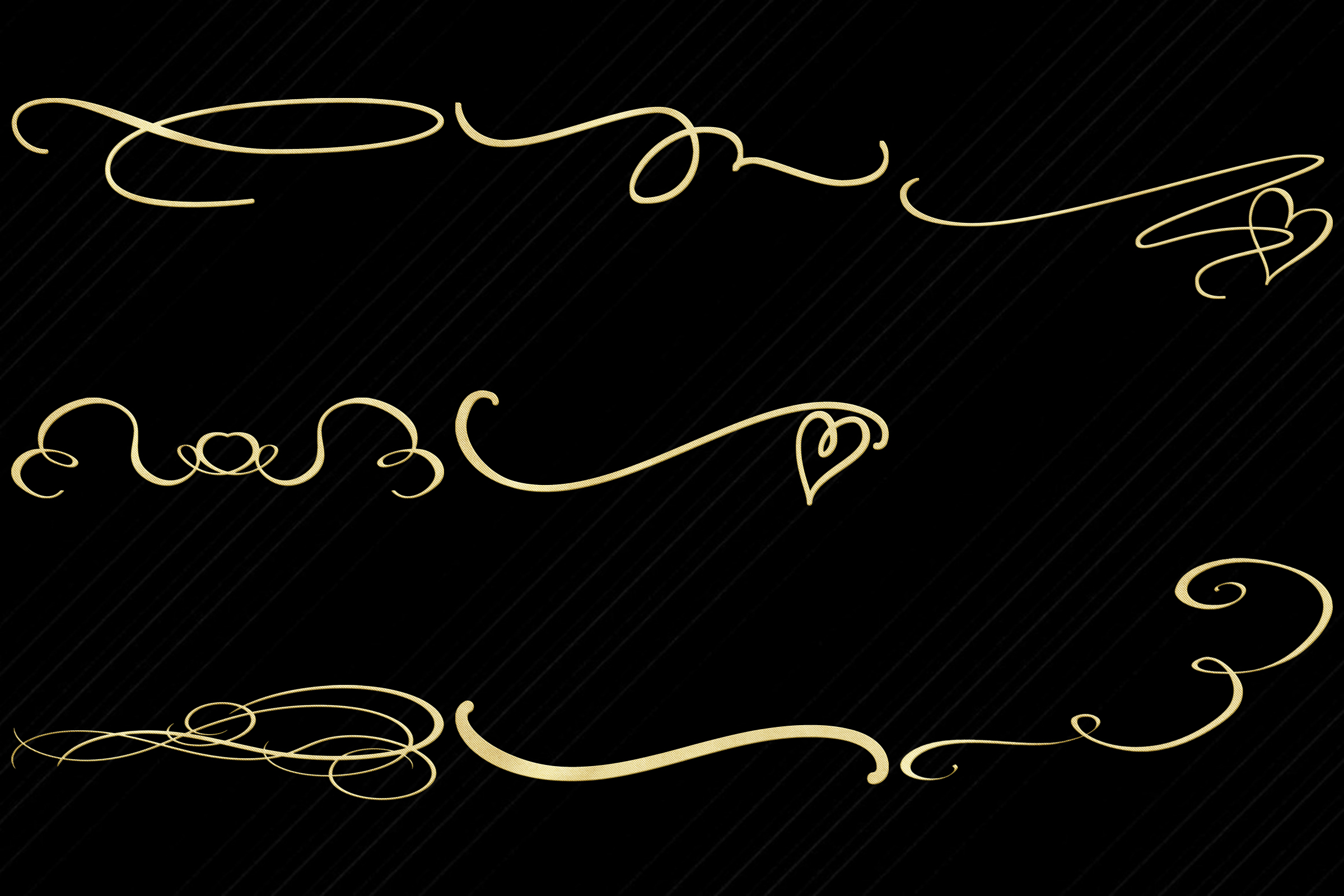 Gold Foil Swirls and Flourishes Clip Art example image 4