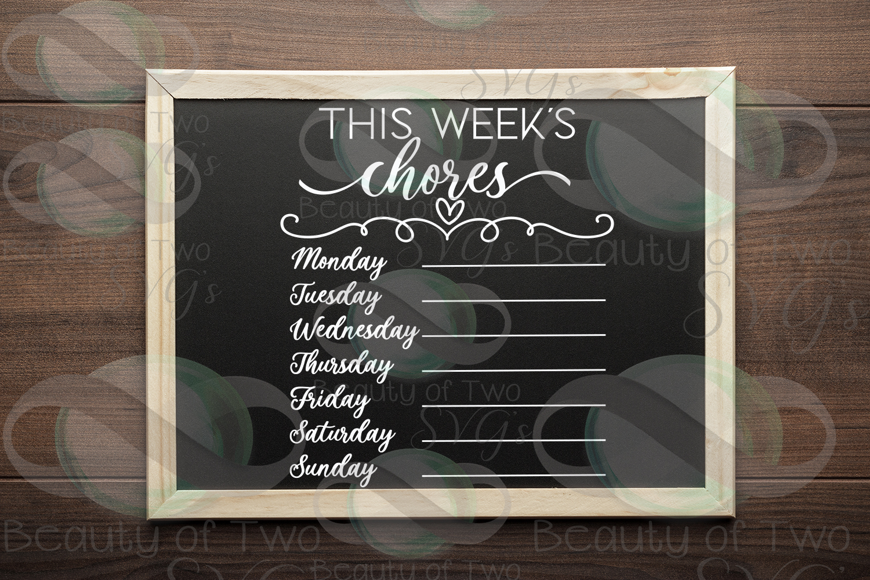 This week's organization svg Bundle, Menu svg, chores svg example image 4