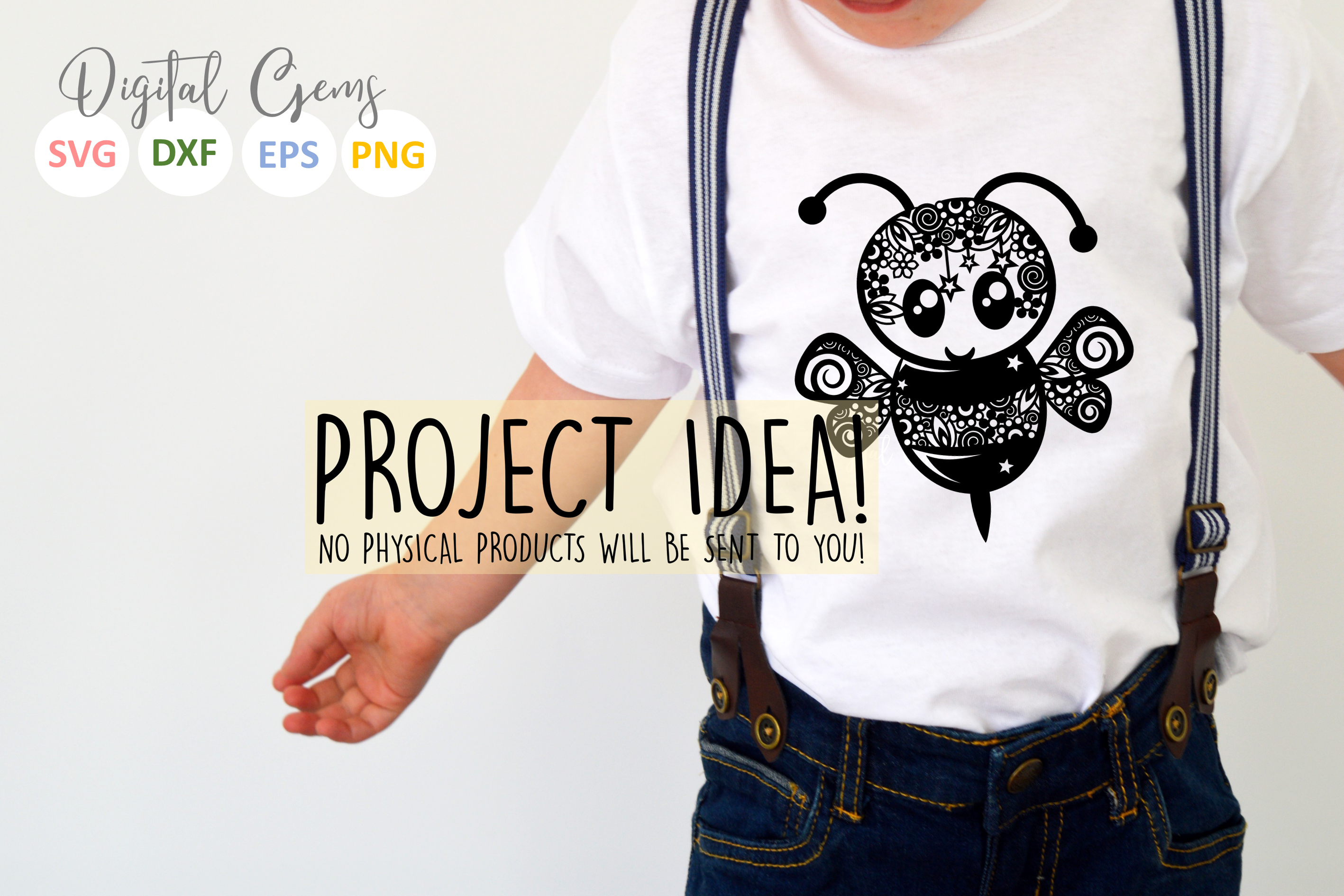 Bee paper cut SVG / DXF / EPS files example image 3