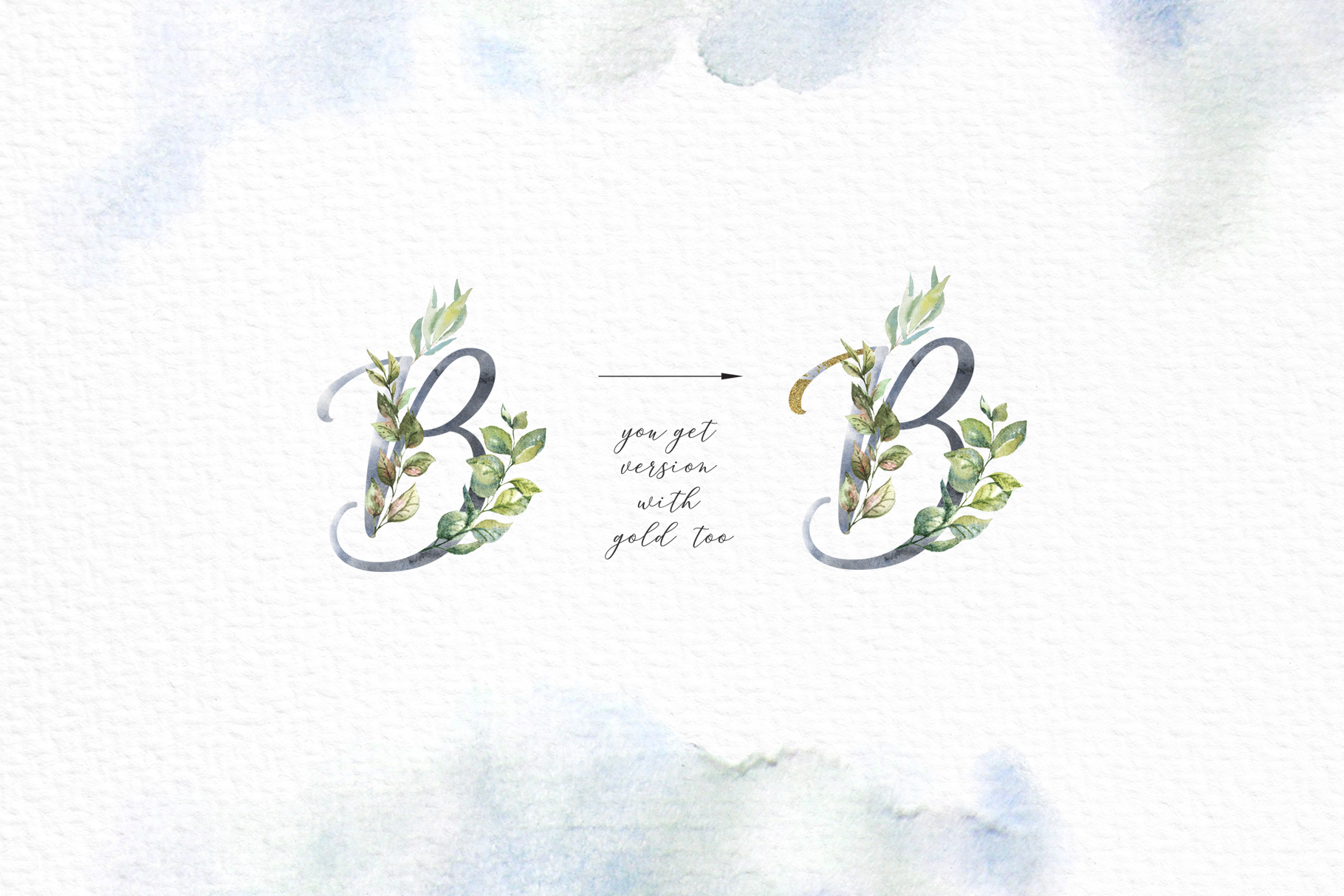Floral Alphabets Collection. example image 4