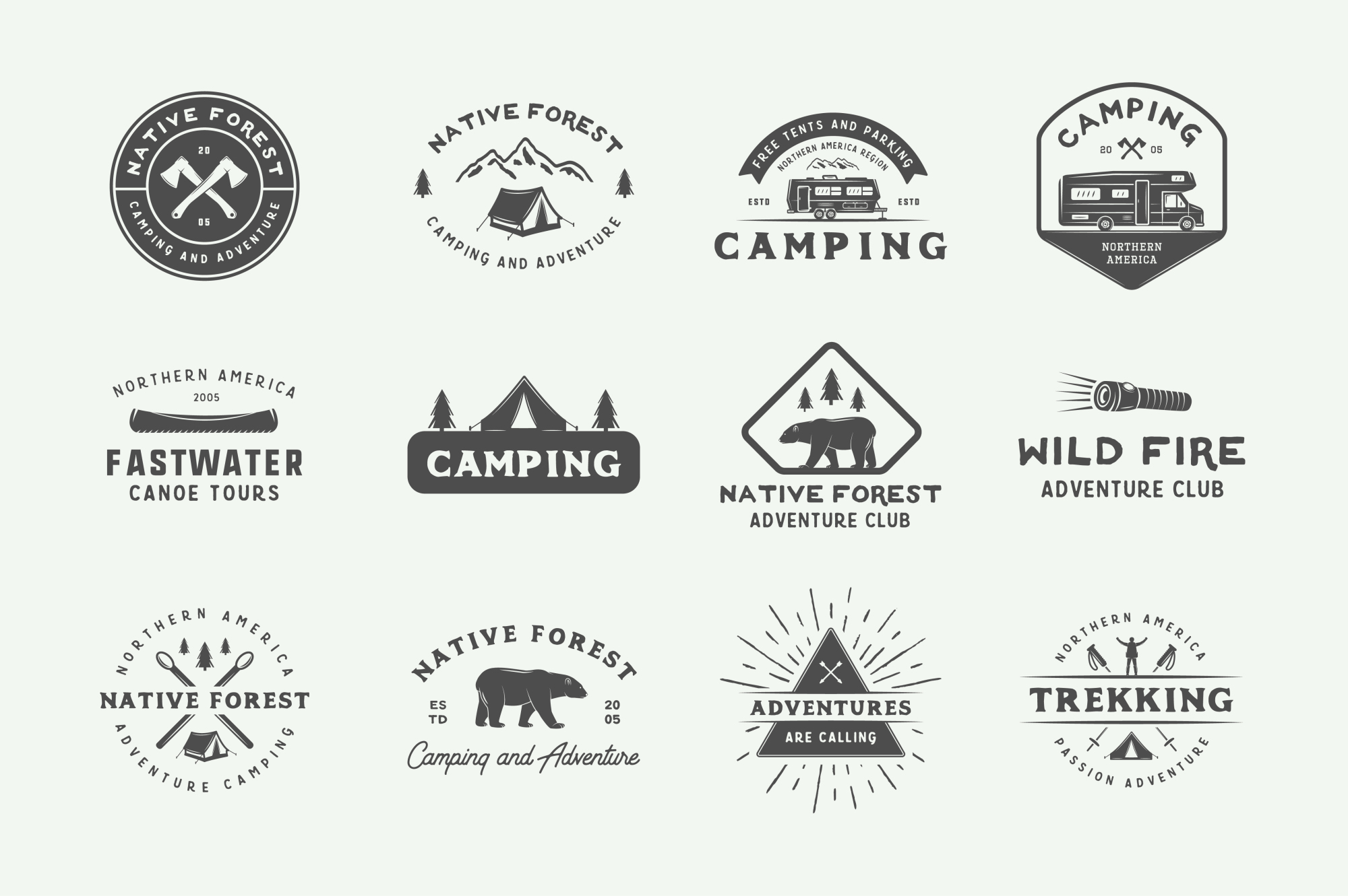 Camping and Adventure Emblems example image 4