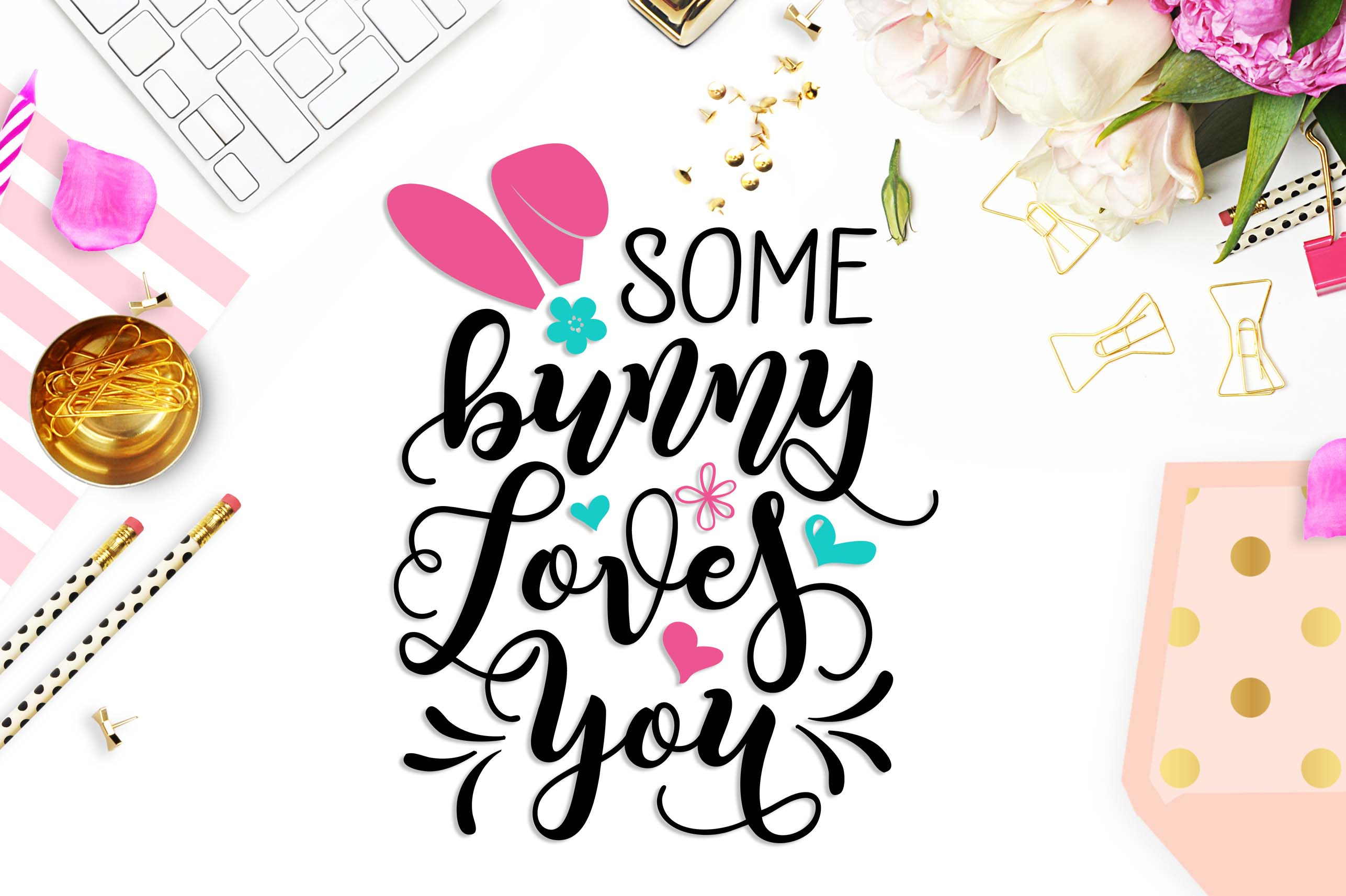 Some bunny loves you SVG DXF PNG EPS example image 2