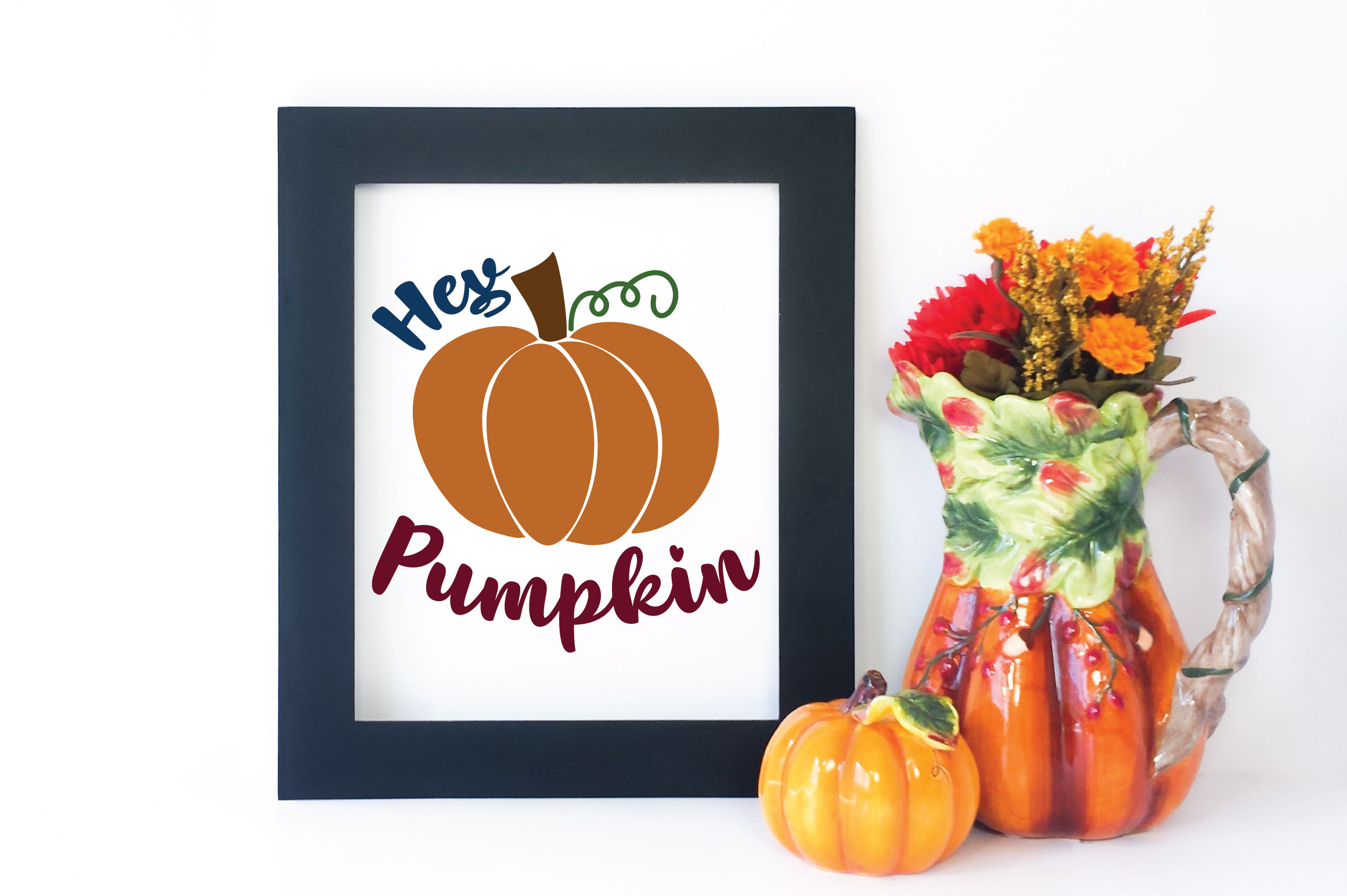 Hey Pumpkin SVG Cut File - Fall Pumpkin SVG example image 4