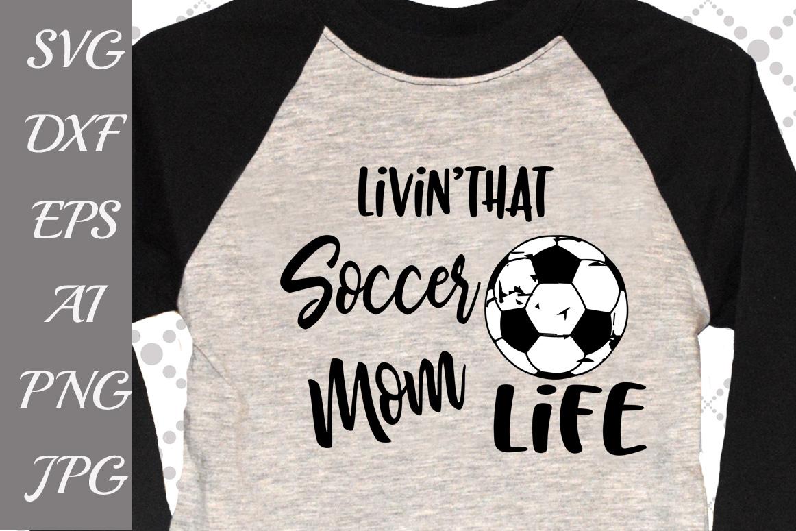 Soccer Ball Mom Svg example image 1