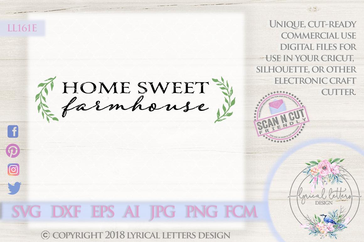 Home Sweet Farmhouse SVG Cut File LL161E example image 1
