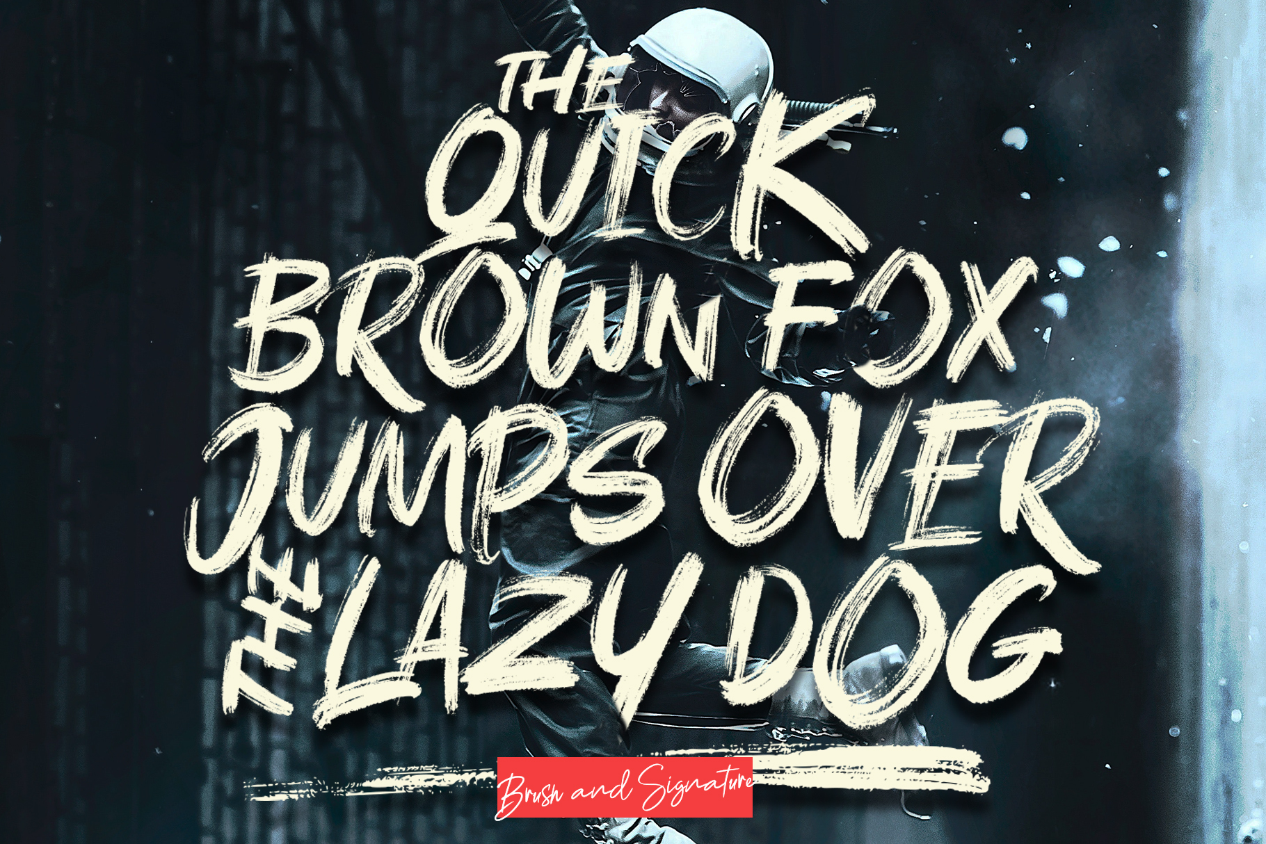 Rushink Font Duo | Brush & Signature example image 6