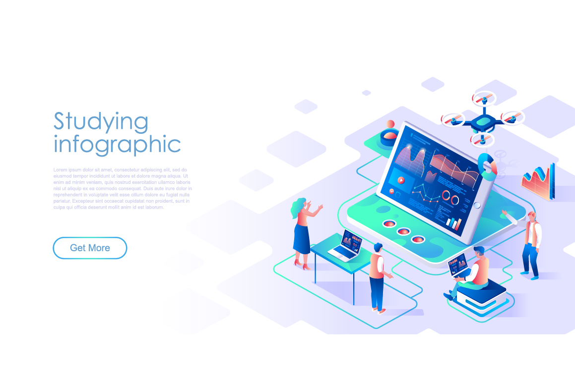 Bundle Isometric Landing Page Template Header example image 3