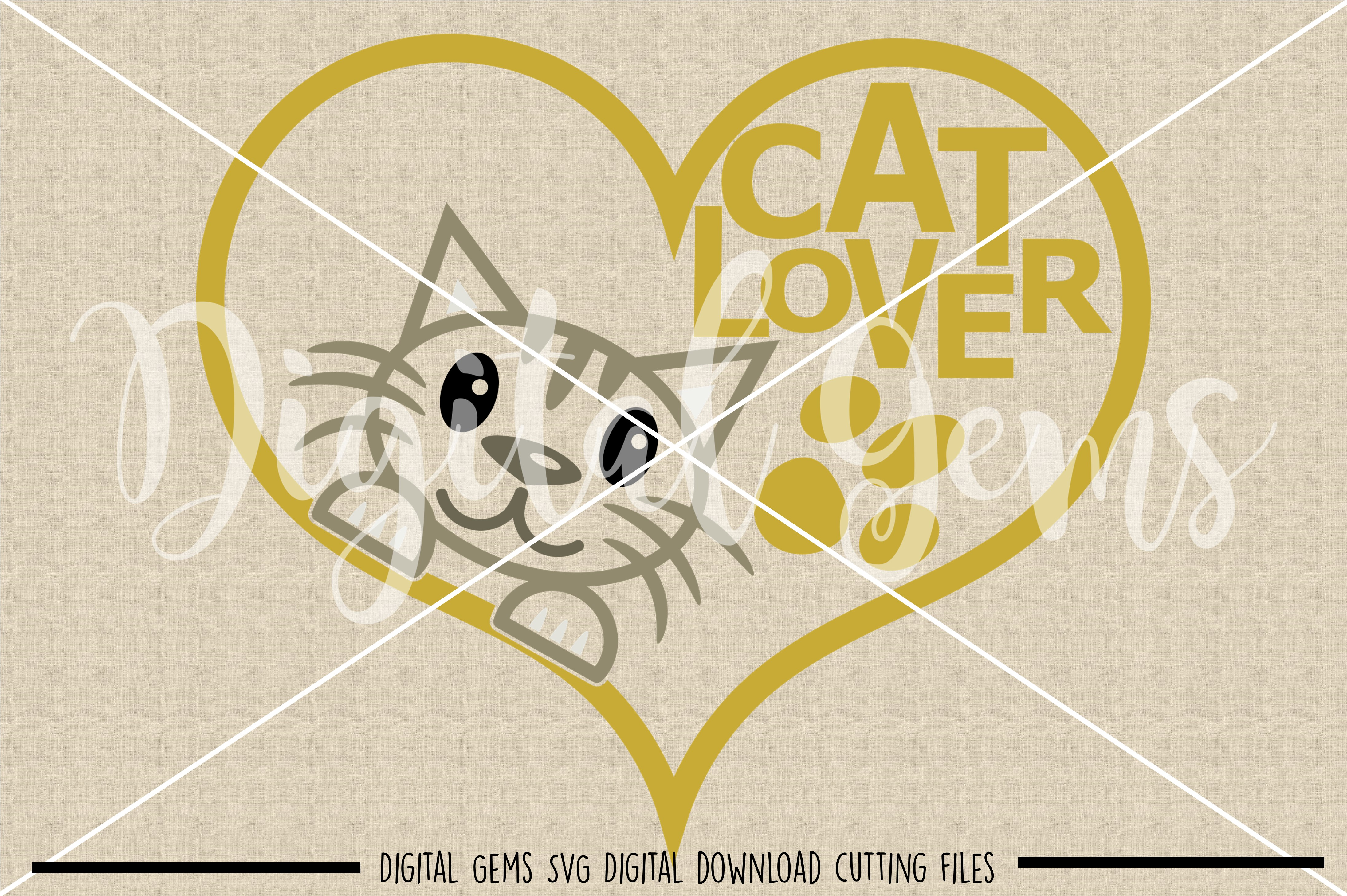 Cat lover SVG / PNG / EPS / DXF Files example image 2