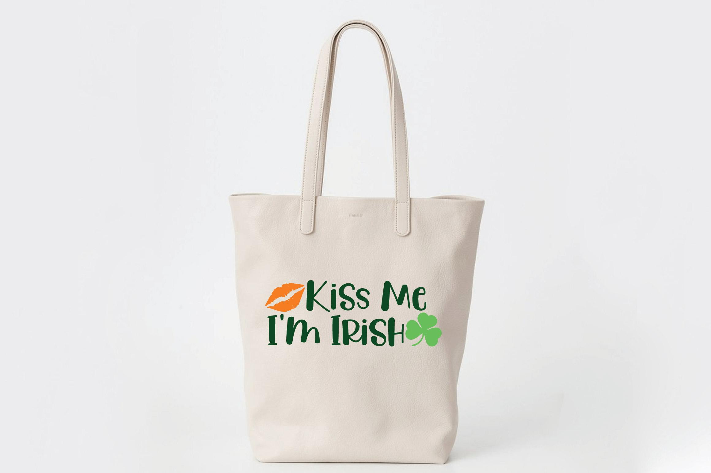 Kiss Me I'm Irish SVG Cut File - St. Patrick's Day SVG - DXF example image 5