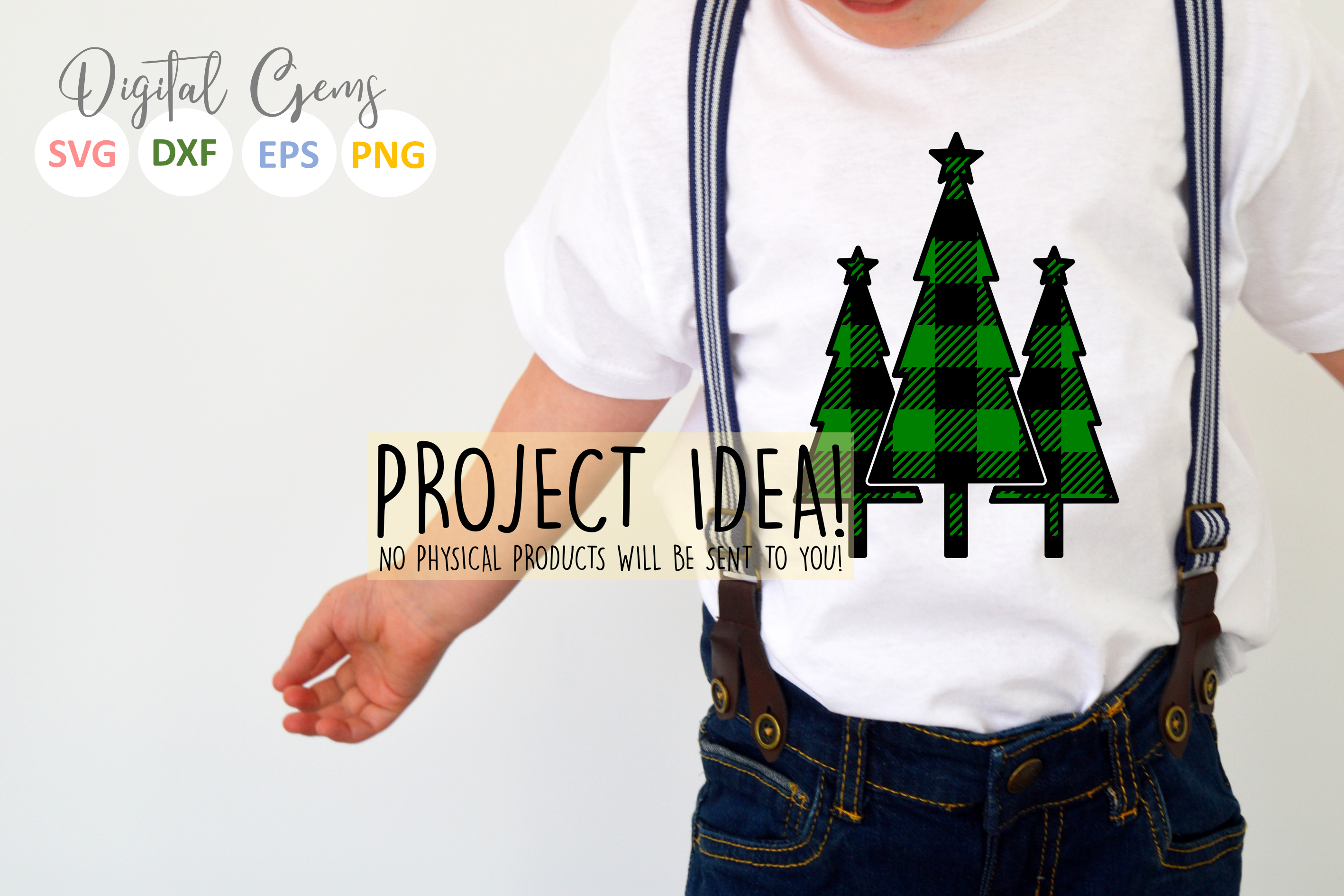 Plaid Christmas designs. SVG / PNG / EPS / DXF files example image 2