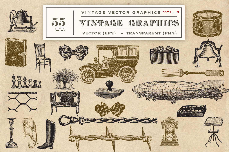 Vintage Vector Graphics Vol. 3 example image 2
