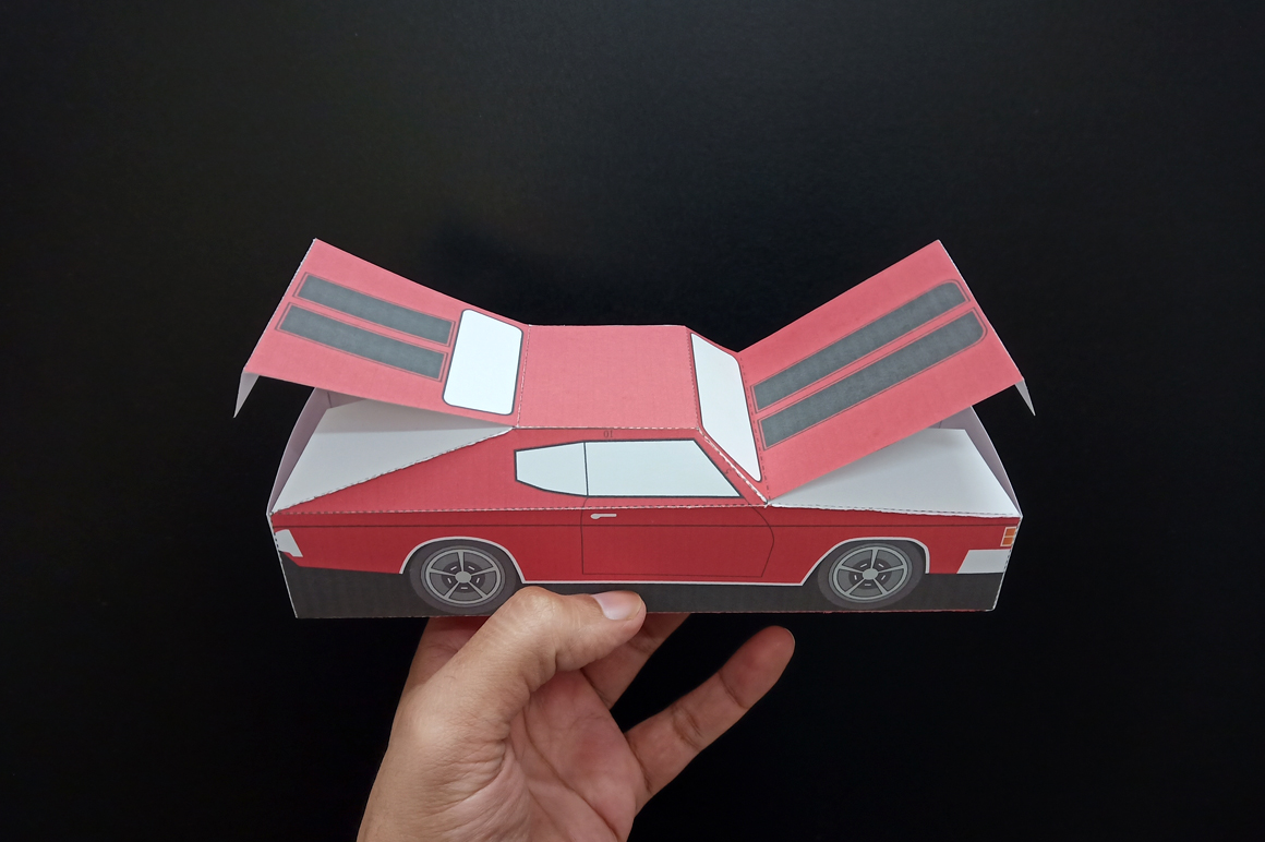 DIY Chevelle Car favor - 3d papercraft example image 9