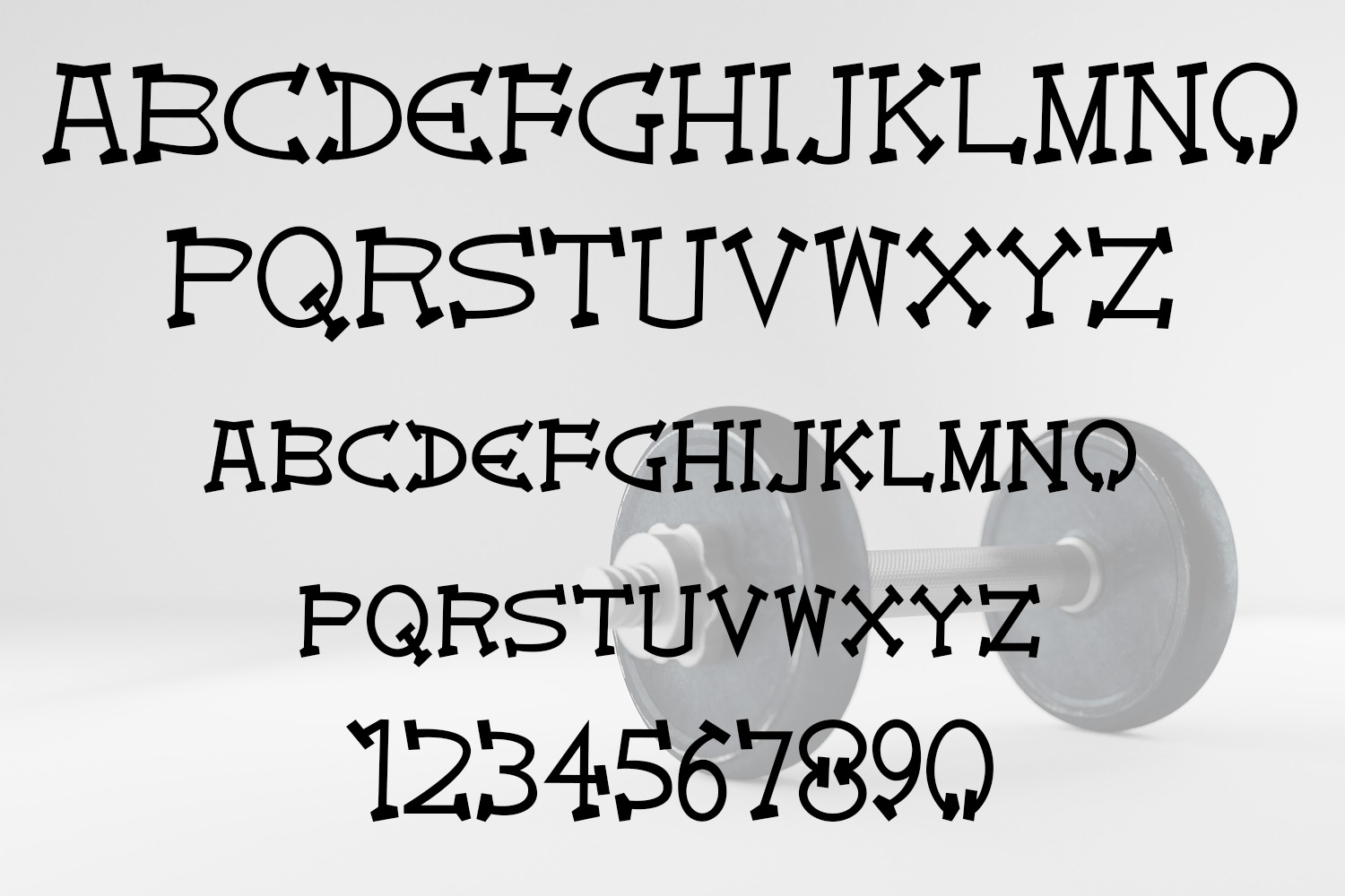 EP Dumbbells - All Caps Font example image 2