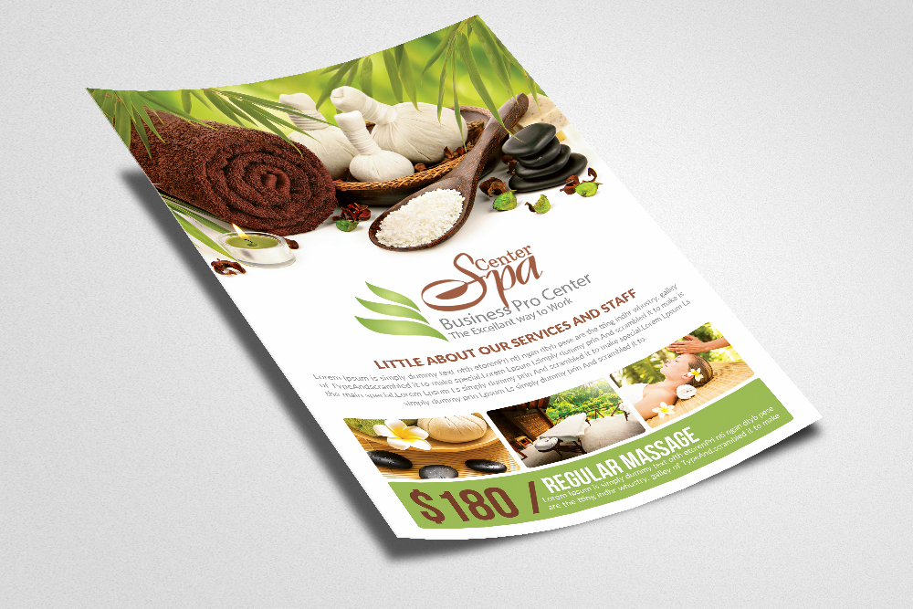 Spa Center Flyer Templates example image 2