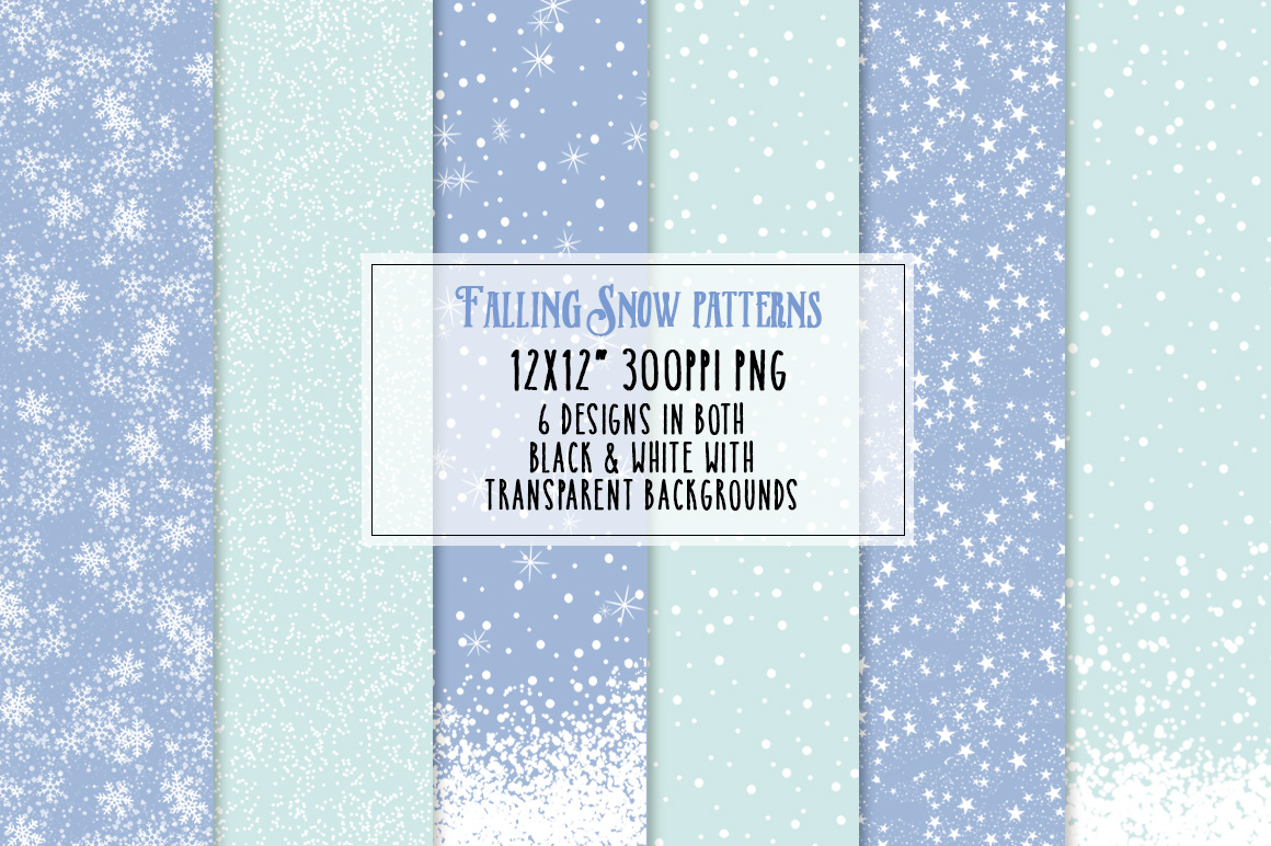 Falling Snow Patterns Preview