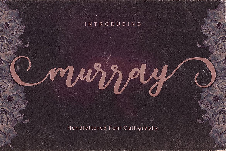 Murray Script Font Duo example image 5