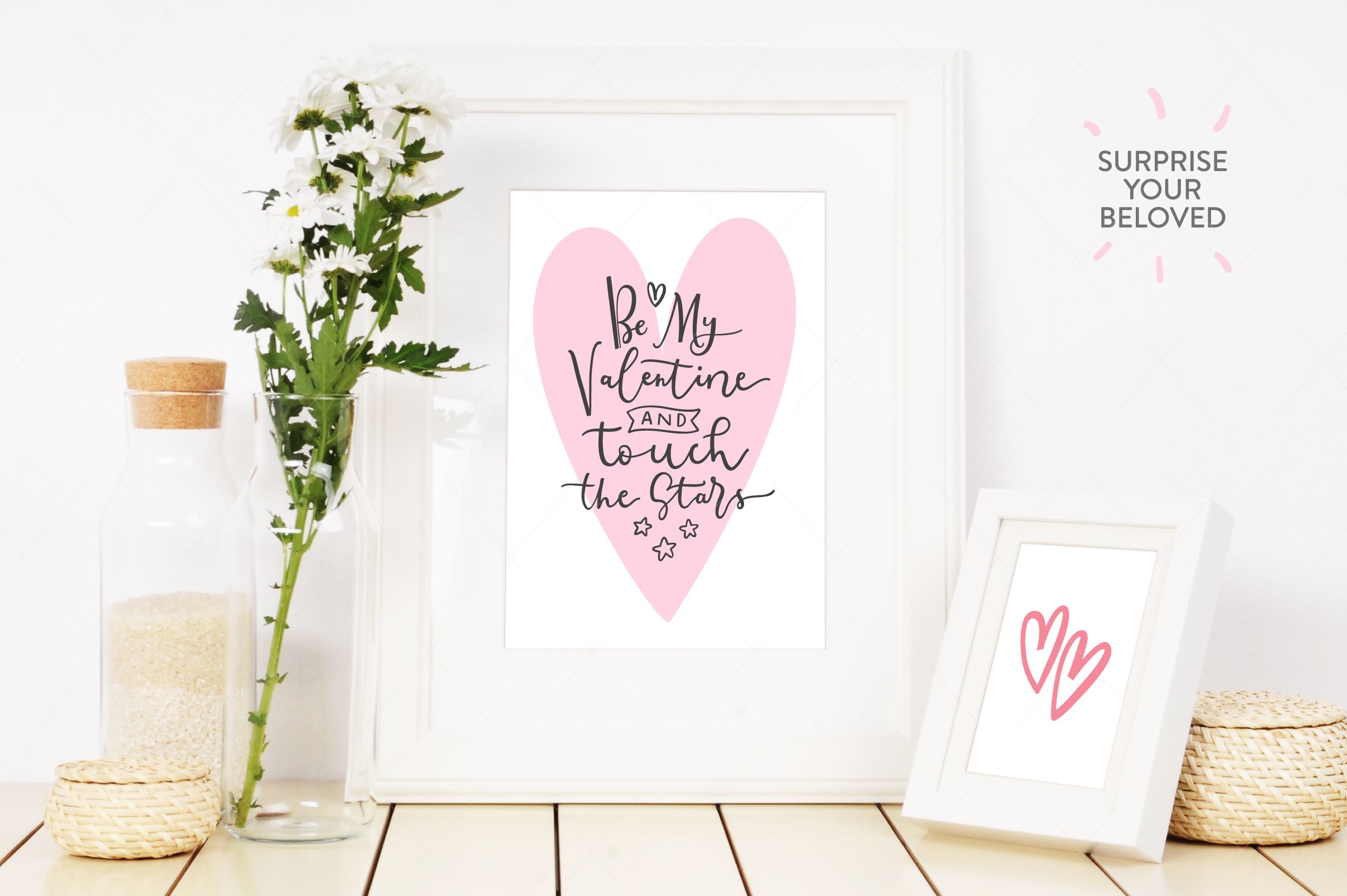 Be My Valentine, 6 letterings example image 4