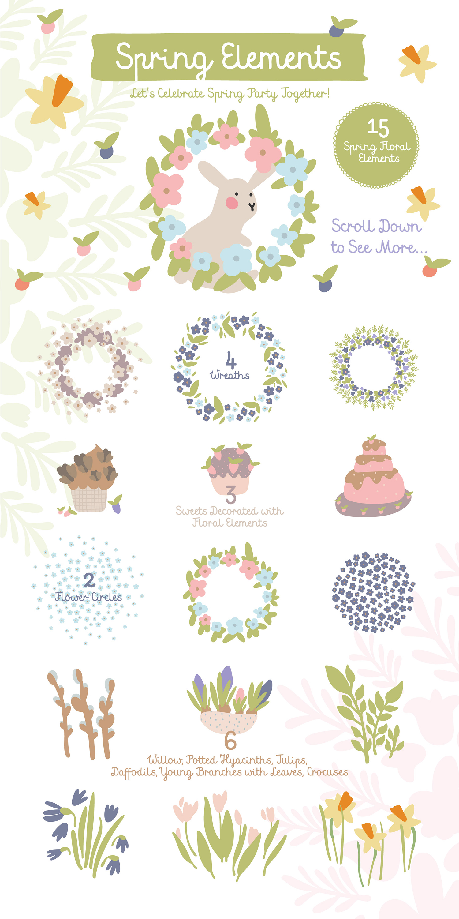 FIND EASTER! FUNNY VECTOR EASTER SET example image 5