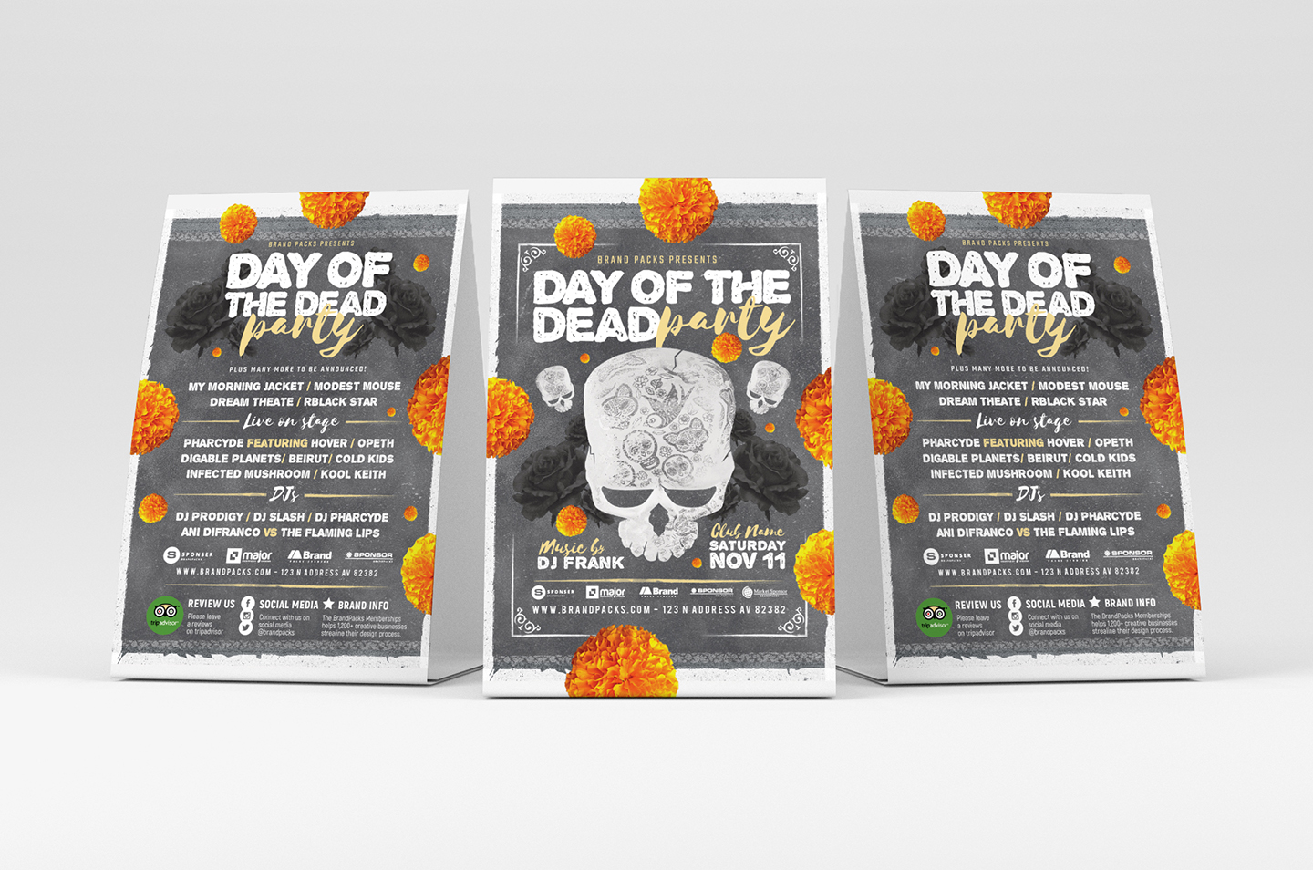 Day of The Dead Party Flyer Template example image 4