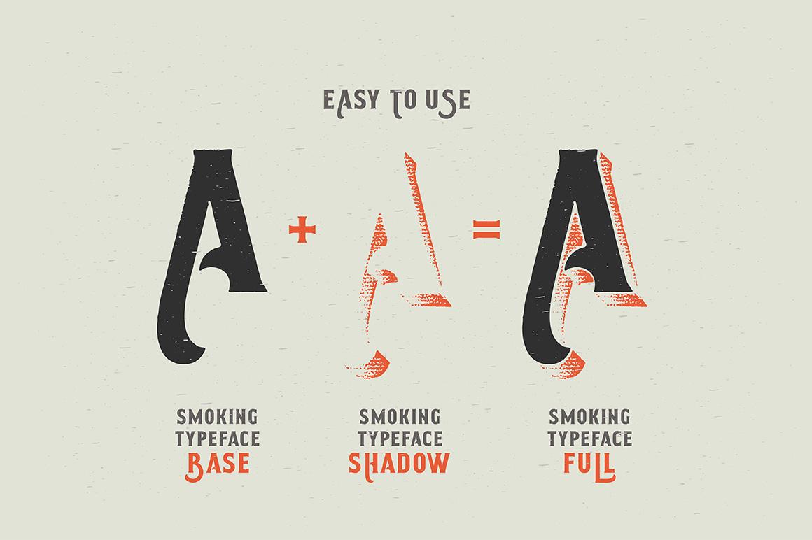 Smoking typeface + Illustration example image 2