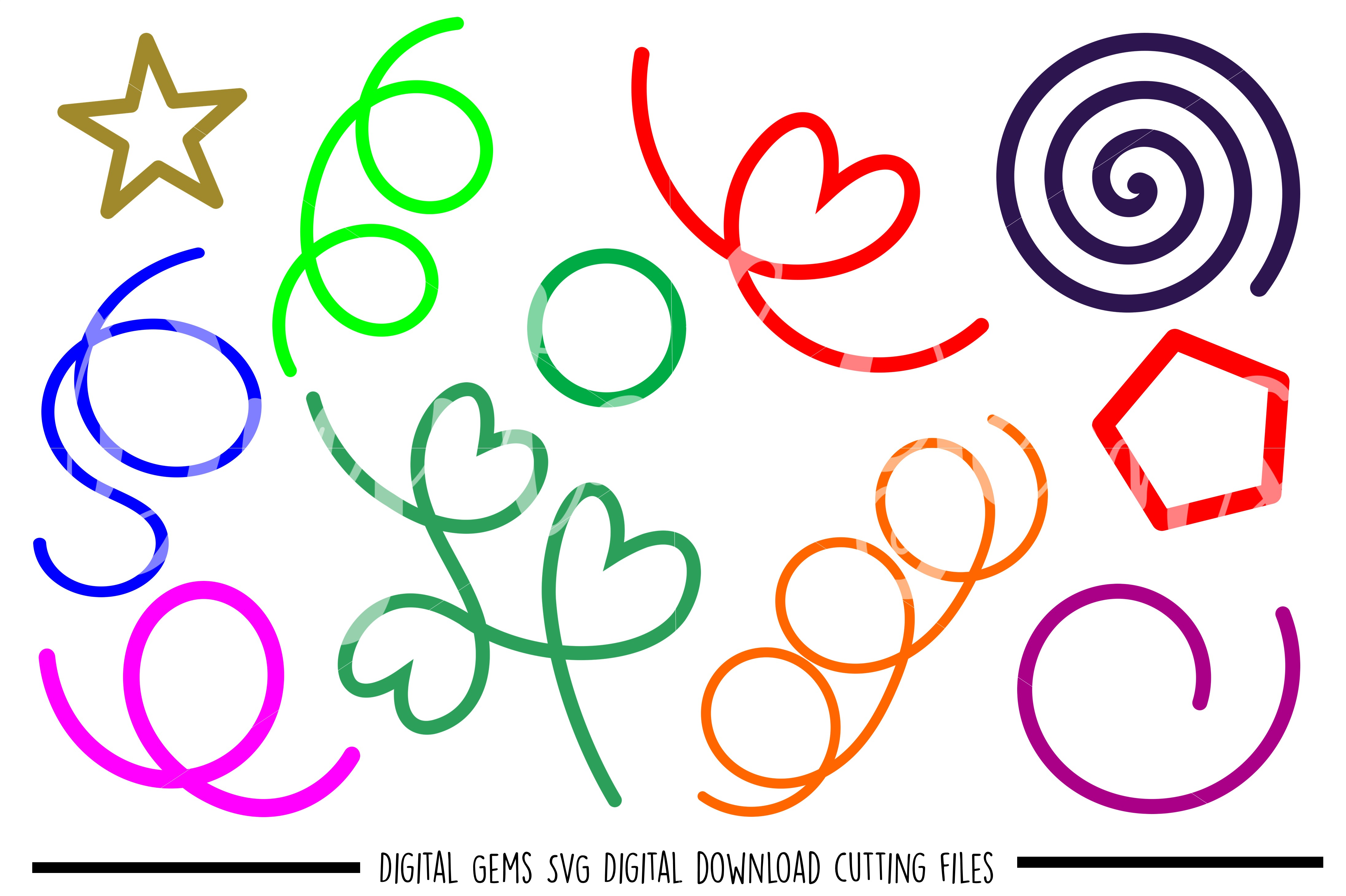 Shape SVG / DXF / EPS / PNG files example image 1