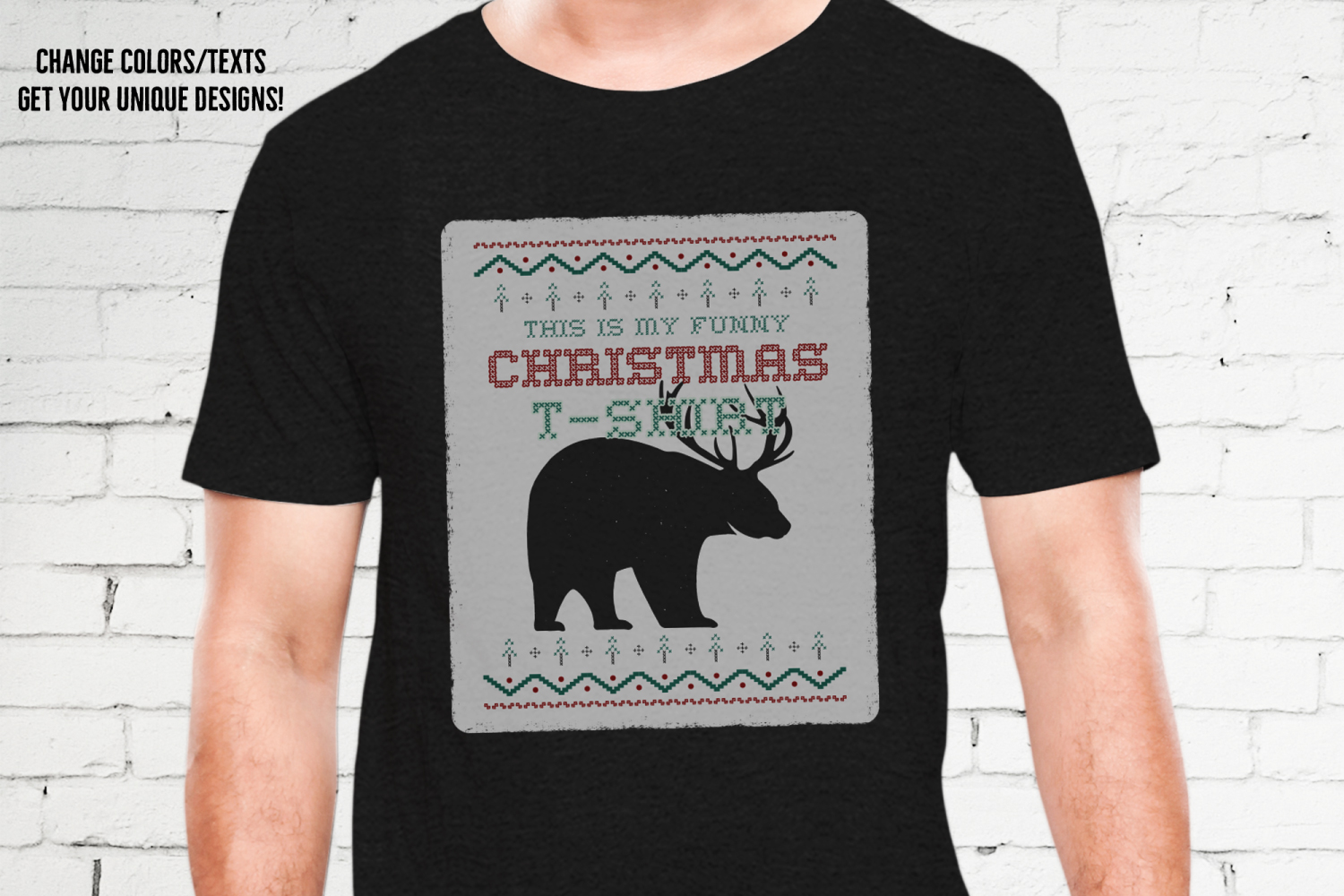 Funny Christmas Print T-Shirt Sweater. Beer Design SVG File example image 3