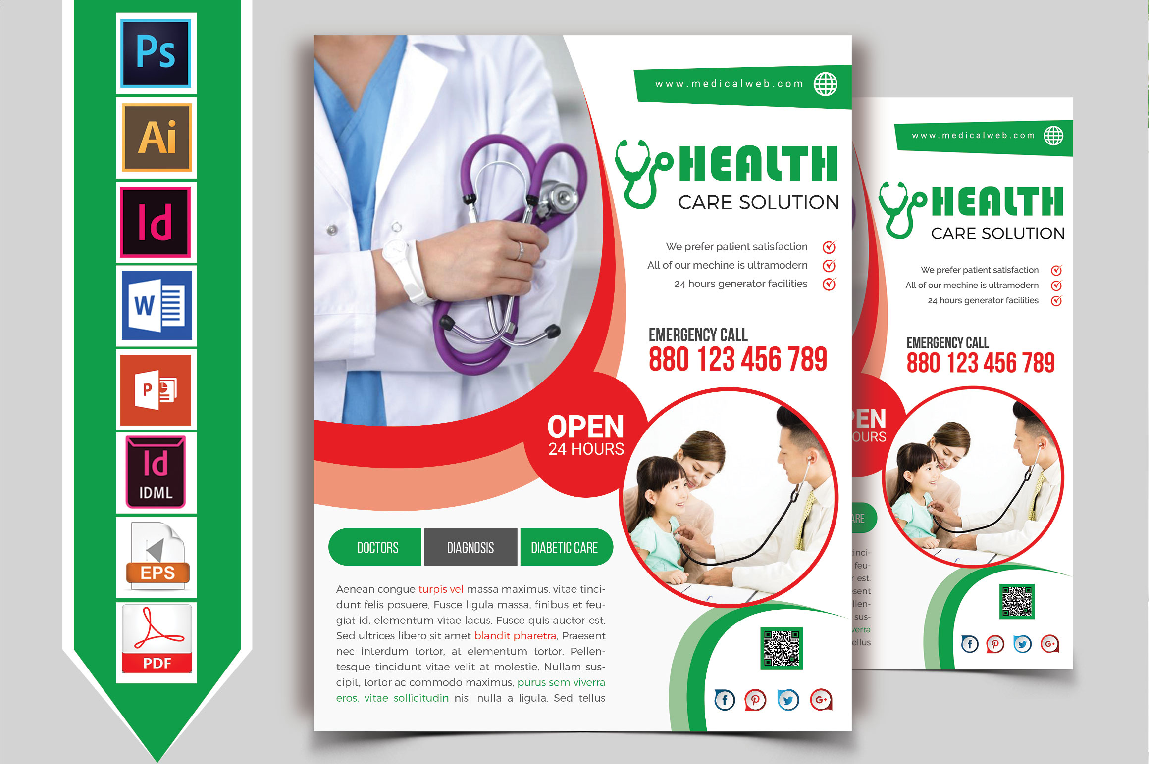 Doctor & Medical Flyer. Vol-05 example image 2