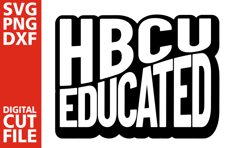 HBCU Educated svg, Black Queen svg, Afro woman, Graduation example image 1