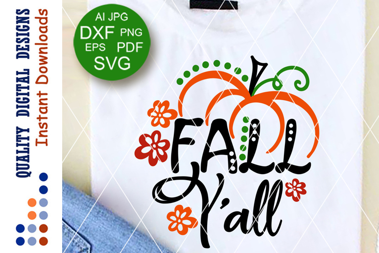 Fall y'all svg files Thankful sign Home decor example image 1
