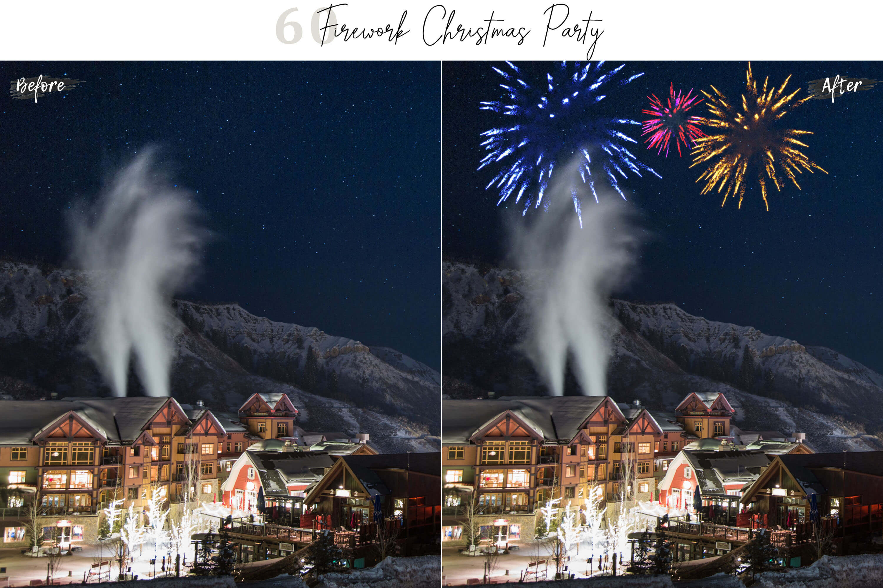 60 Firework Christmas Party Overlays example image 7