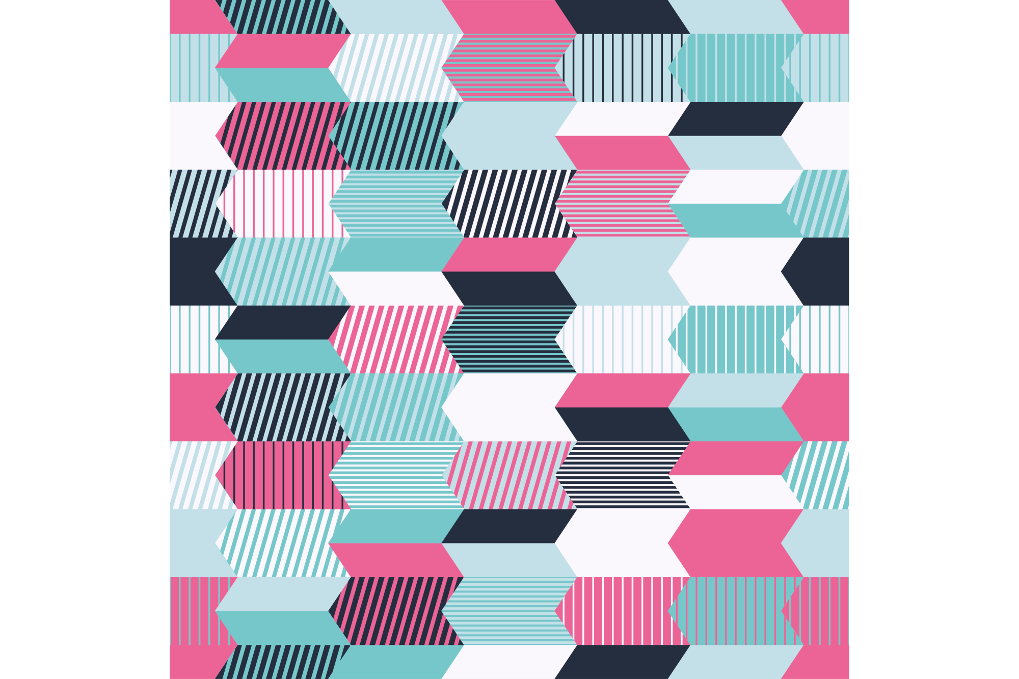 Seamless vector background with abstract geometric pattern. Print. Repeating background. Cloth design, wallpaper. example image 1