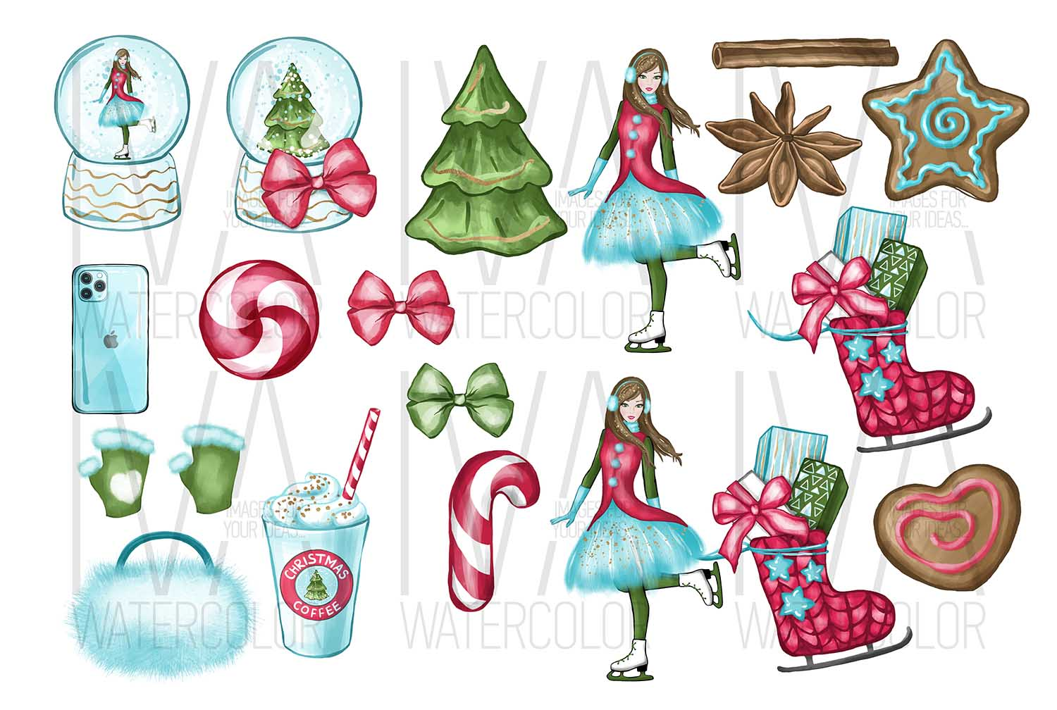 Christmas Clipart, Christmas Scrapbook example image 2