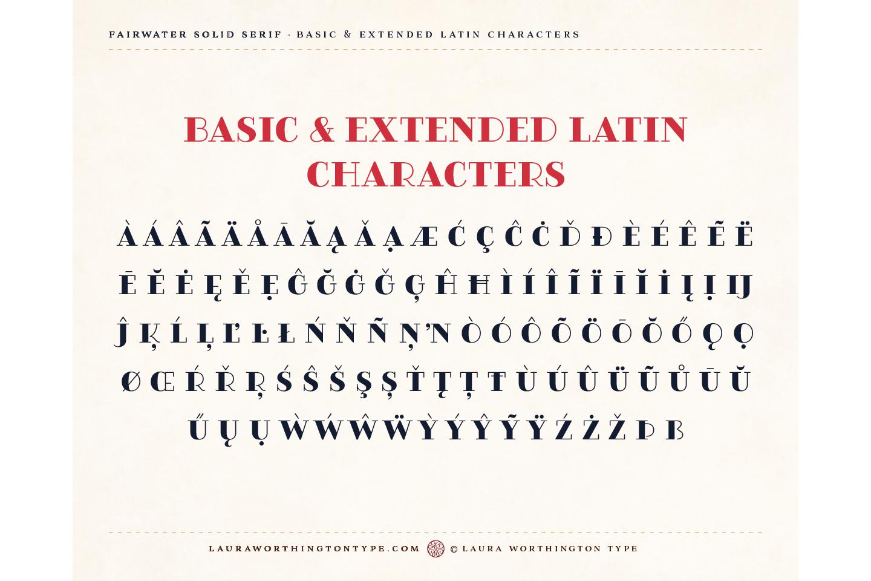 Fairwater Solid Serif example image 9