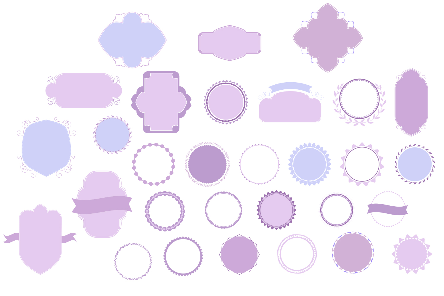 Badges & Frames SVG Cut files - 30 items example image 4