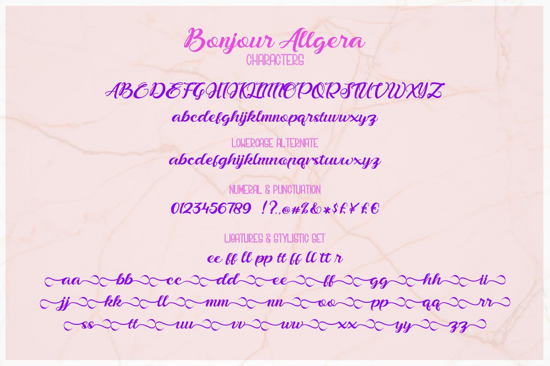 Bonjour Allgera - Font Duo example image 10